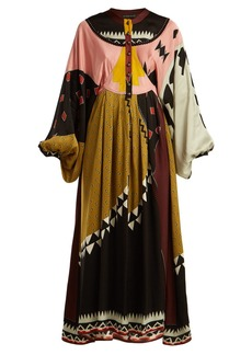 Etro Lupe geometric-print satin maxi dress