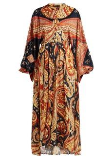 Etro Lupe paisley-print satin long dress
