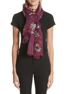Etro Maharaja Embroidered Wrap Scarf