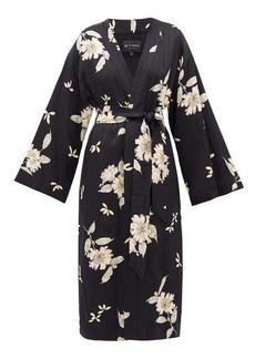 Etro Malva floral-print satin coat