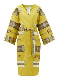 Etro Malva geometric-jacquard wool-blend coat