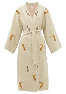 Etro Malva safari-embroidered linen coat