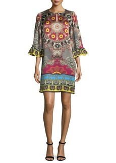 Etro Mandala-Print Silk Shift Dress