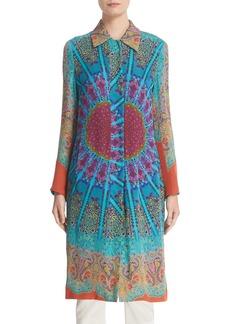 Etro Mandala Print Silk Shirt Topper