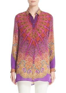 Etro Mandala Print Silk Tunic