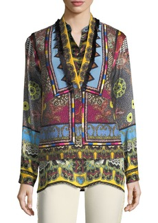 Etro Mandala Printed & Embroidered Vest