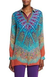 Etro Mandala Printed Silk Tunic