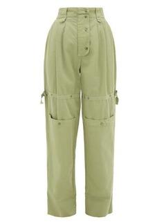 Etro Margherita cargo-pocket cotton-canvas trousers