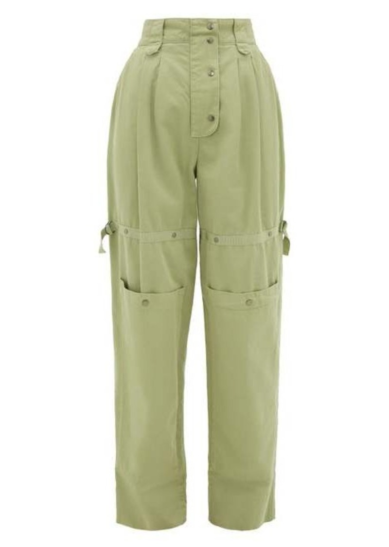 Etro Margherita cargo-pocket cotton-canvas trousers