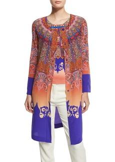 Etro Marrakech-Print Silk Coat