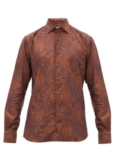 Etro Medieval-jacquard cotton-twill shirt