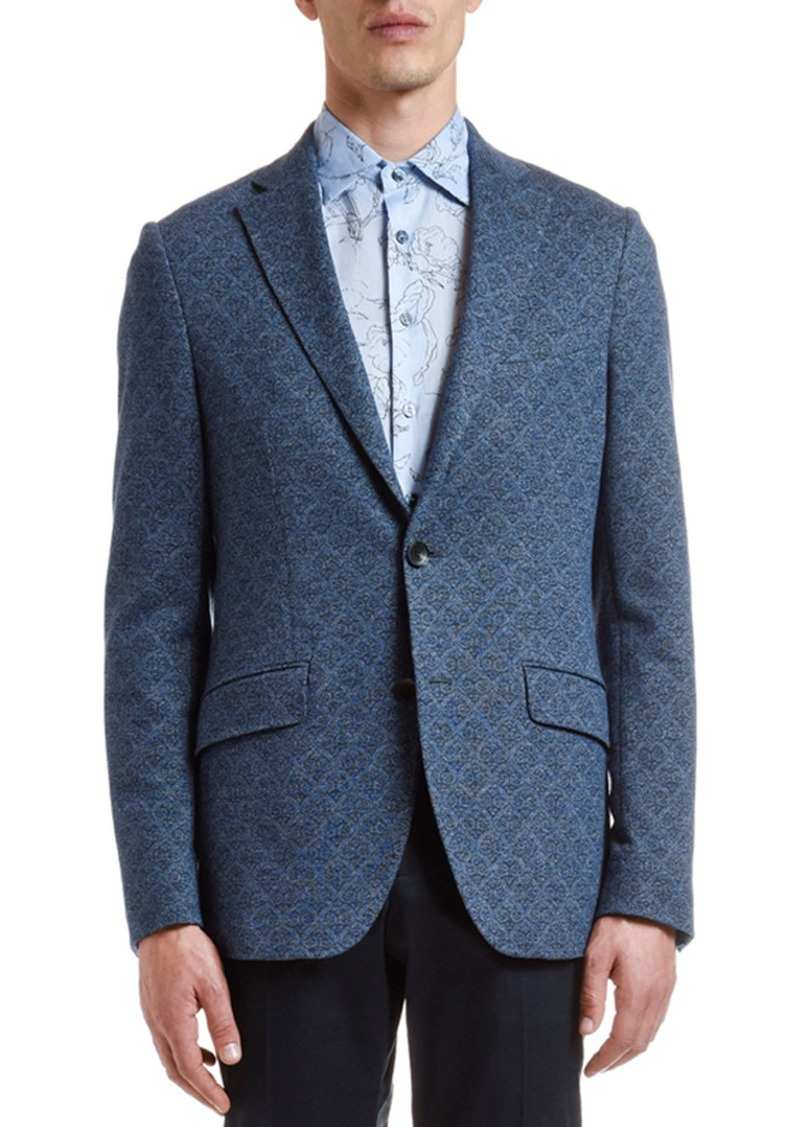 Etro Men's Cotton/Wool Jacquard Sport Coat