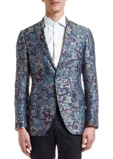 Etro Men's Floral Jacquard Silk Evening Coat