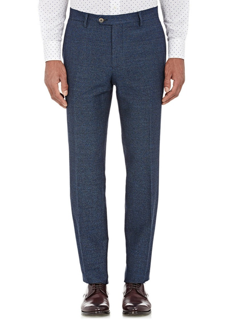 Etro Men's Herringbone-Weave Trousers-NAVY Size 34