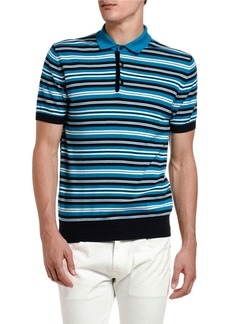 Etro Men's Striped Polo Shirt