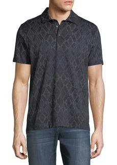 Etro Men's Tapestry-Print Cotton Polo Shirt