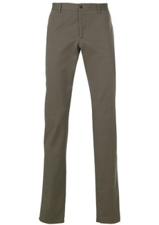 Etro micro pattern straight-leg trousers - Grey