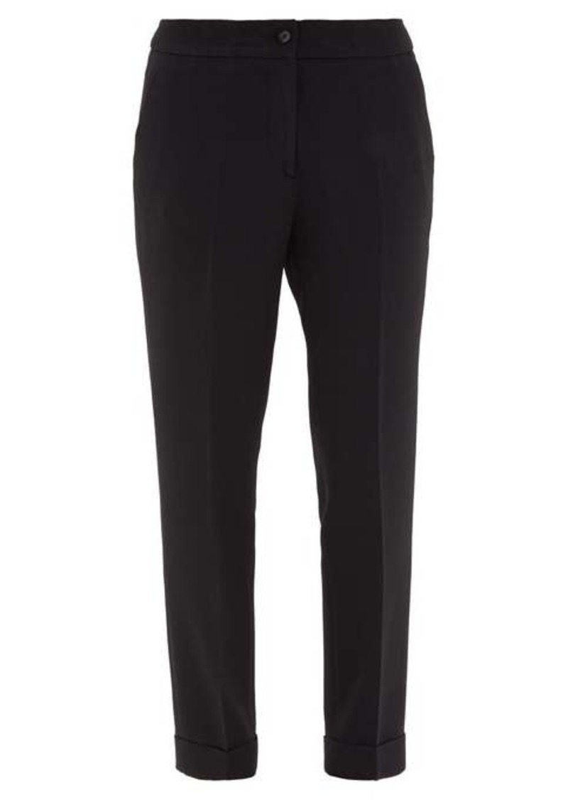 Etro Milano turn-up cuff cady trousers