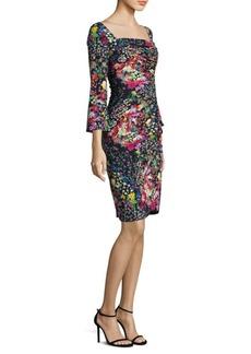 Mille Fleur Ruched Dress