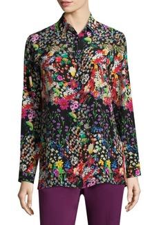 Mille Fleur Silk Shirt
