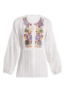 Etro Mira floral-embroidered blouse