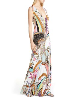 Etro Mixed Print Jersey Maxi Dress