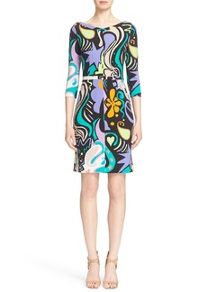 Etro Mixed Print Sheath Dress