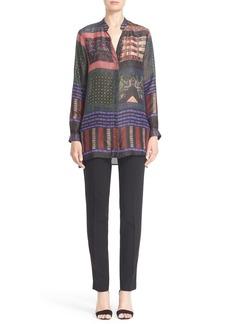 Etro Mixed Print Silk Tunic