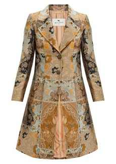 Etro Morgan single-breasted metallic-jacquard coat