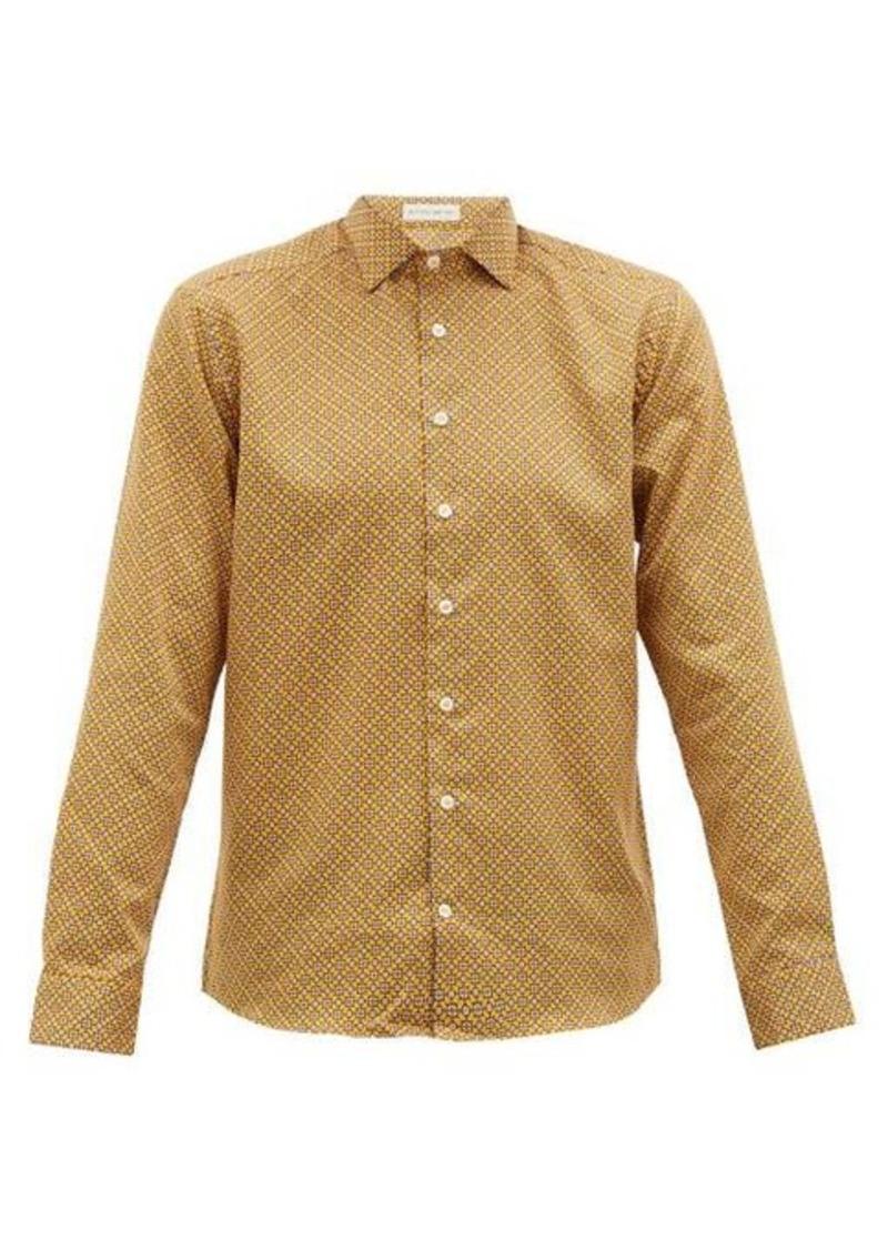 Etro Mosaic-print cotton-poplin shirt