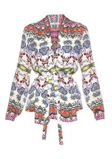 Etro Multi floral-print silk blouse