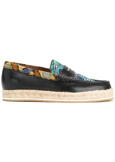 Etro multi-print loafers - Blue