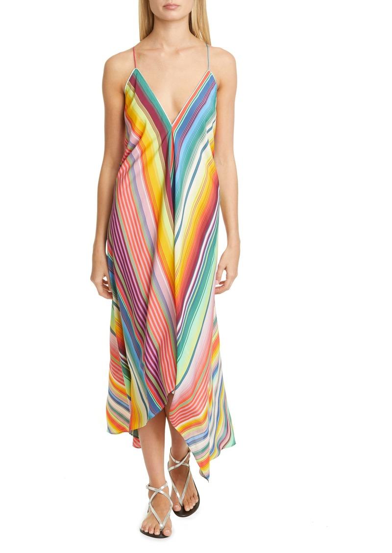 Etro Multi Stripe Cover-Up Maxi Dress