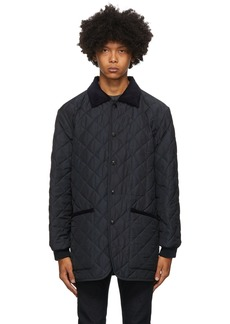 Etro Navy Quilted Jacket