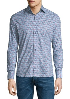 Etro New Warrant Micro Floral-Print Shirt