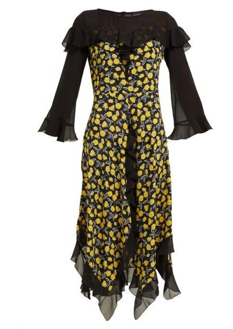 Etro Northumberland floral-print silk midi dress