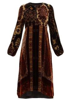 Etro Nottinghamshire paisley-print velvet dress