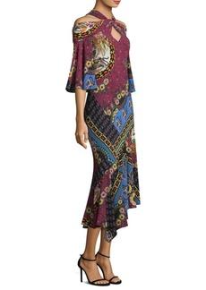 Cold-Shoulder Jungle Dress