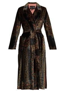 Etro Opal single-breasted printed velvet robe