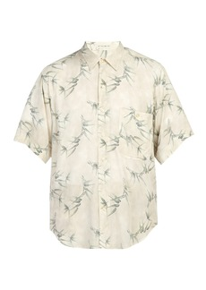 Etro Oversized bamboo-print short-sleeved shirt