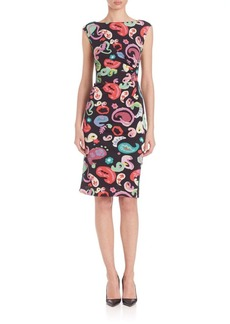 Etro Paisley Cap-Sleeve Jersey Dress