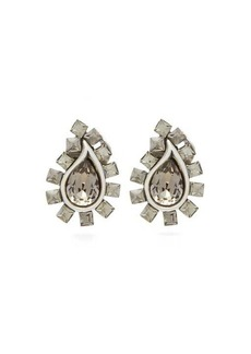 Etro Paisley crystal-embellished clip earrings