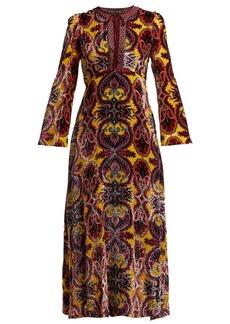 Etro Paisley devoré-velvet midi dress