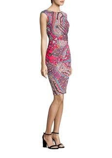 Etro Paisley Faux-Wrap Dress