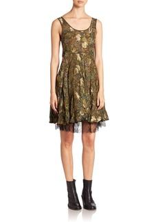 Etro Paisley Fil Coupe Lace-Edged Dress