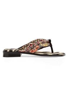 Etro Paisley flip-flops