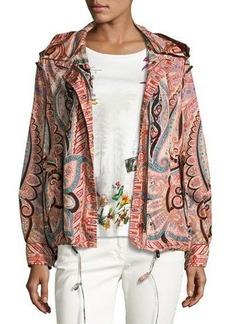 Etro Paisley Hooded Drawstring Jacket