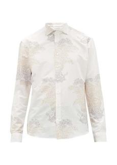 Etro Paisley-jacquard cotton-blend poplin shirt