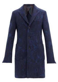 Etro Paisley-jacquard wool-blend overcoat