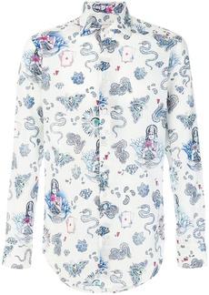 Etro paisley mixed print shirt - White